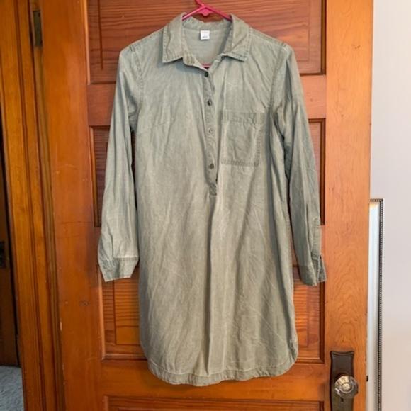 Old Navy Dresses & Skirts - Old Navy green denim dress